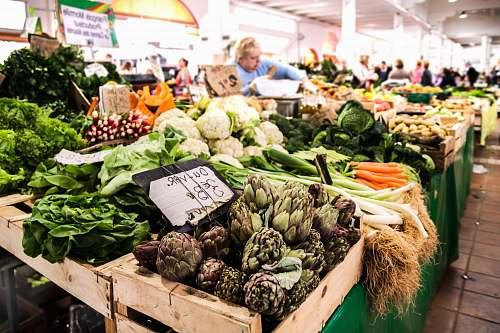 artichoke assorted vegetable lot produce