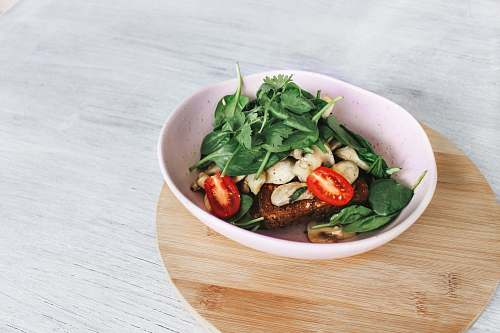 salad assorted vegetables on white ceramic bowl bowl