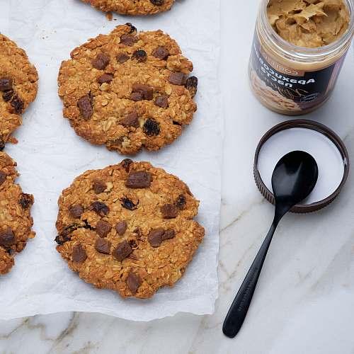 cutlery baked cookies spoon