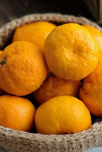 fruit basket of orange citrus fruit