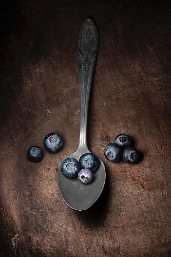 fruit blueberries on spoon blueberry