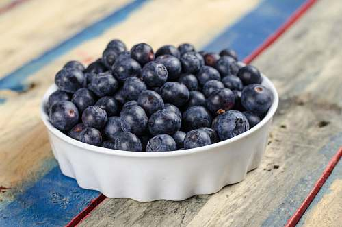 fruit blueberries on white ceramic bowl blueberry