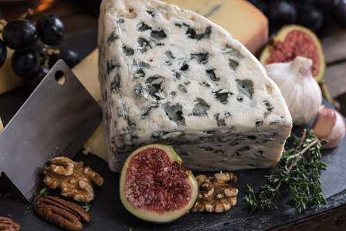 fruit bolognese cheese beside herbs cheese