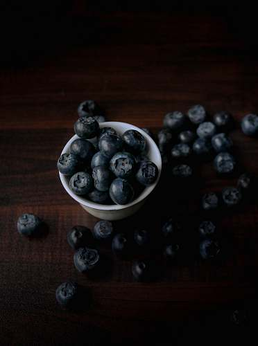 plant bowl of blue berries blueberry