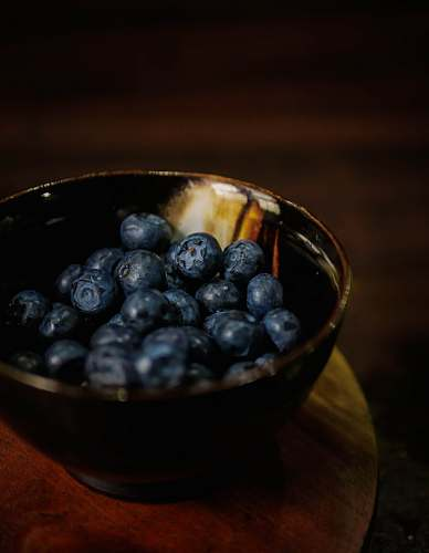 fruit bowl of blueberries blueberry