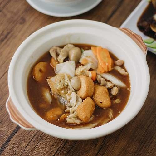 bowl bowl of cooked food dish
