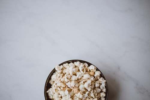 popcorn bowl of popcorn snack