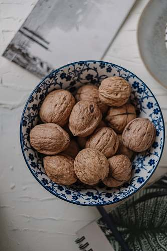 walnut bowl of walnuts nut