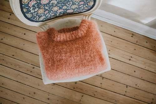 bread brown knit crew-neck jacket wool