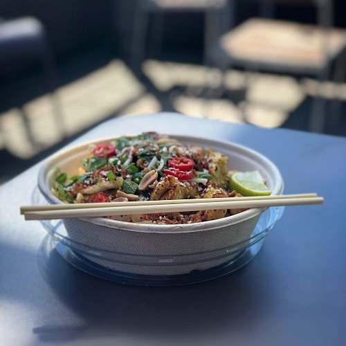 noodle brown wooden chopsticks pasta