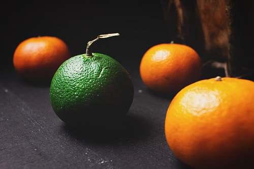 plant bunch of oranges on gray surface citrus fruit