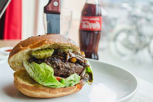 drink burger near Coca-Cola bottle burger