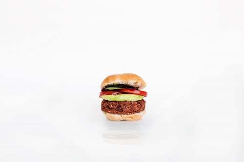 burger burger on white background salad