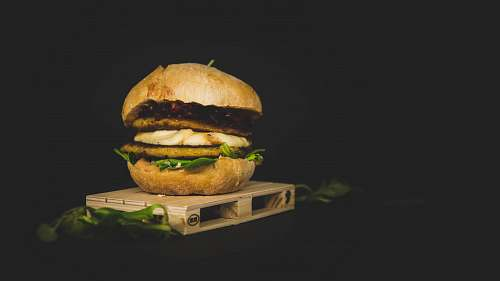 burger burger patty with vegetable brown