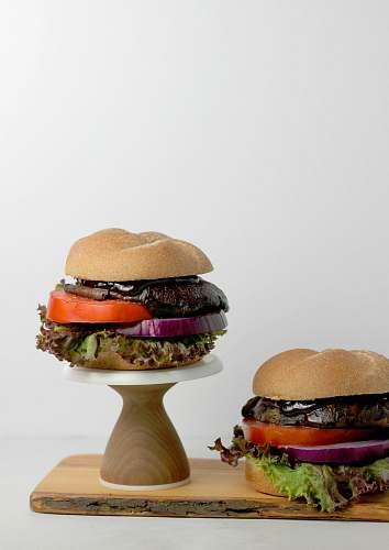 burger burger with patties portobello
