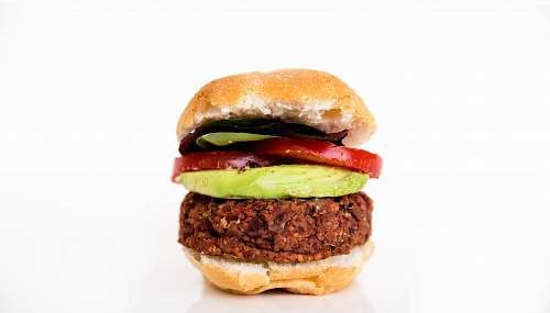 burger burger with tomato meat
