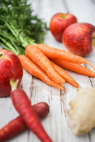 plant carrots and apples fruit