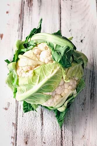 vegetable cauliflower on white wooden surface cabbage