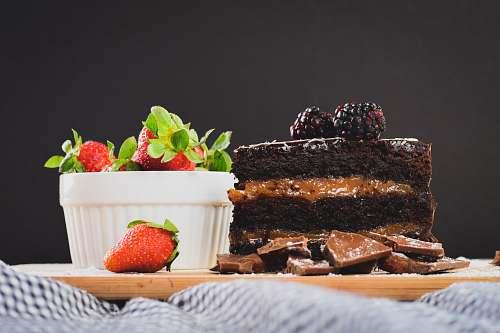fruit chocolate cake with strawberries strawberry
