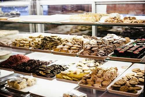 bakery chocolates pastry display dessert