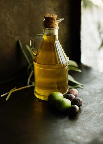 oil clear glass cruet bottle olive