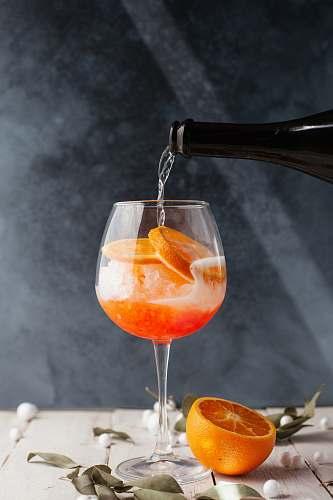 orange clear wine glass glass
