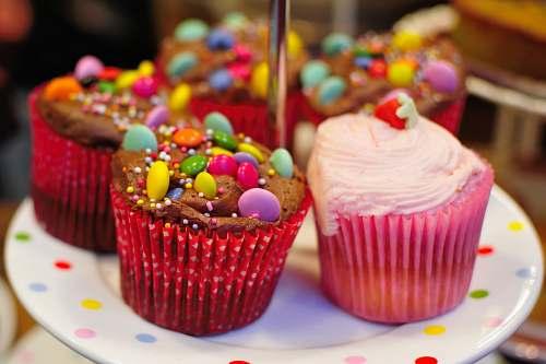 cupcake closeup photo of cupcakes on round white ceramic plate cake