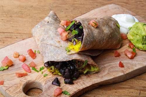 burrito cooked food bread