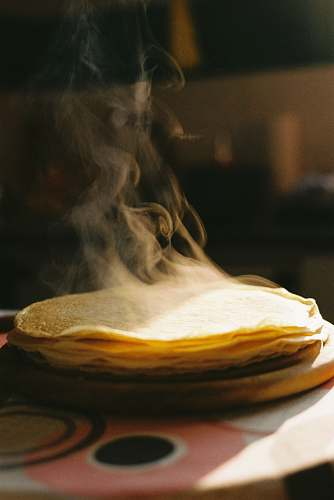 bread cooked pancake on table pita