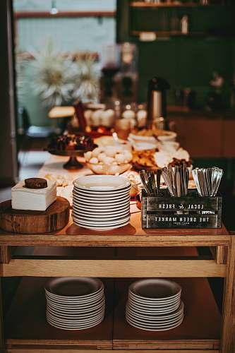 meal dinnerware set on table restaurant