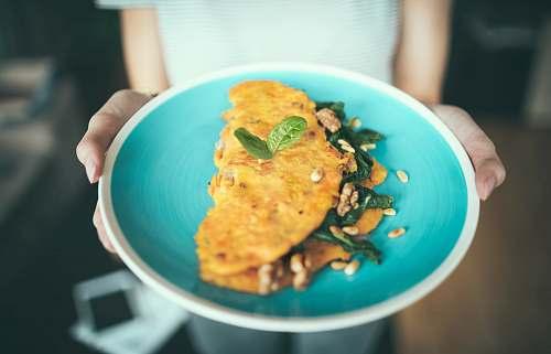 meal egg omelet dish plate