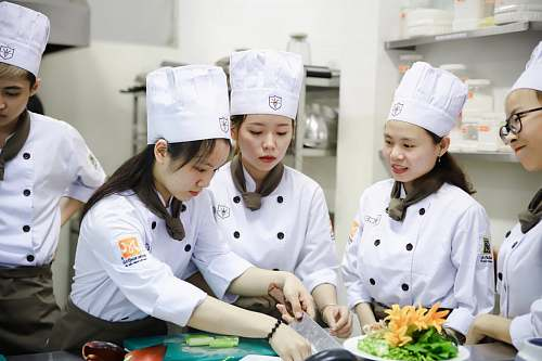 human female chefs in kitchen culinary