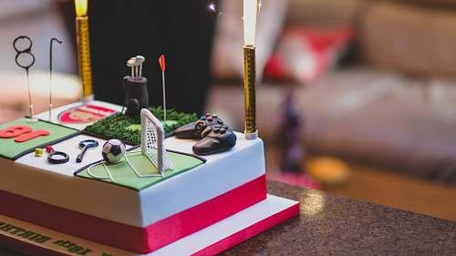 cake fondant cake on table birthday cake