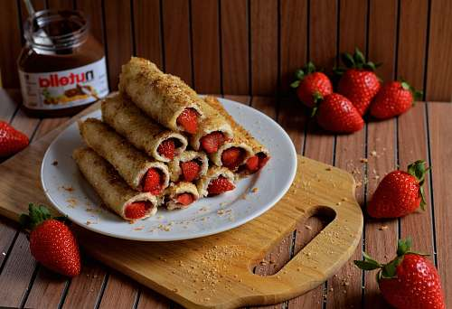strawberry fried food with strawberry fruit