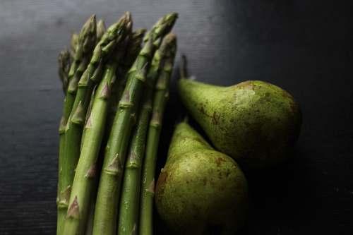 plant green asparagus pear
