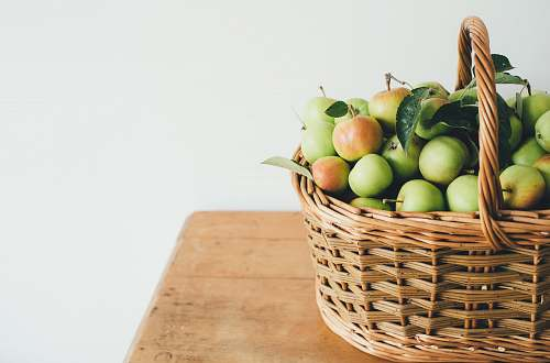 fruit green fruits in basket basket