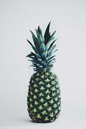 fruit green pineapple on white background pineapple