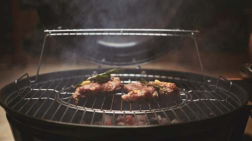bbq grilled meat on grill steak