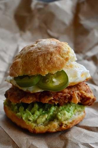 burger ham and egg burger biscuit