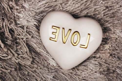 egg heart-shaped white Love decor heart