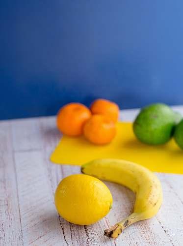 fruit lemon and banana fruits citrus fruit
