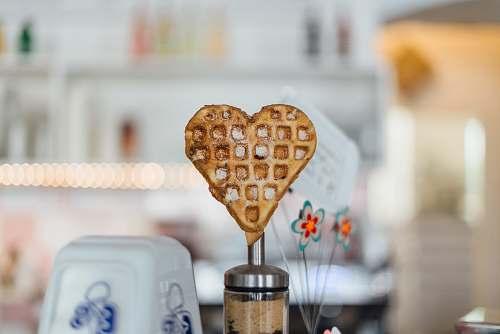 berlin macro shot of brown heart cookie love