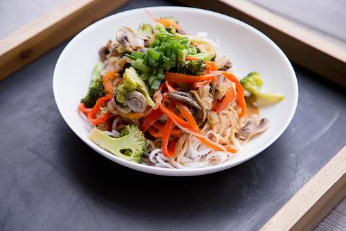 carrot noodle salad produce