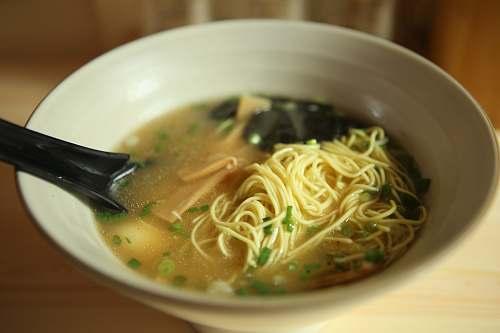 dish noodle serve on white bowl bowl