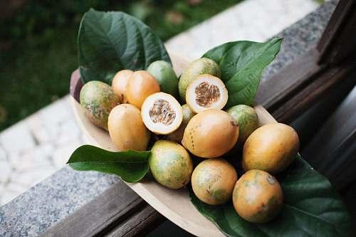 fruit orange fruits on brown tray brazil