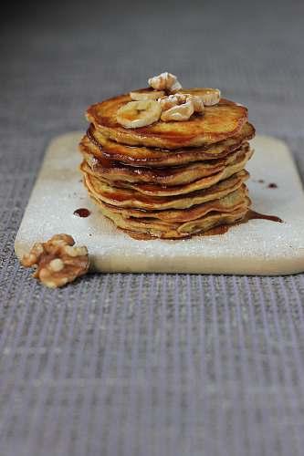 plant pancake on board bread