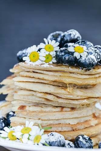 bread pancake with blueberry toppings pancake