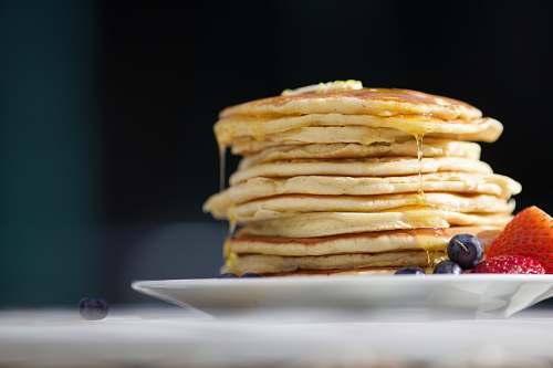 bread pancakes on palte pancake