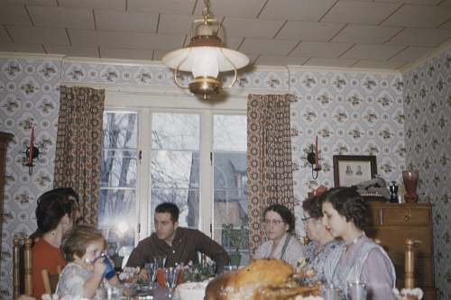 meal people sitting on dining chair in front of table dinner