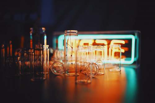 meal photo of clear glass jars restaurant